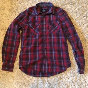 American Eagle - small - slim fit flannel shirt